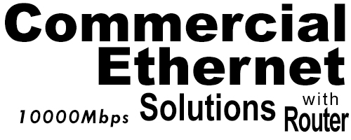 10000Meg Commercial Ethernet Solutions with Router