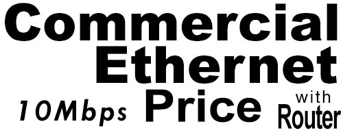 10Meg Commercial Ethernet Price with Router
