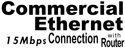 15Meg Commercial Ethernet Connection with Router