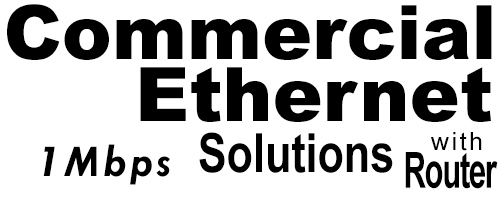 1Meg Commercial Ethernet Solutions with Router