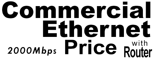 2000Meg Commercial Ethernet Price with Router