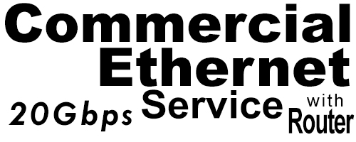 20Gig Commercial Ethernet Service with Router