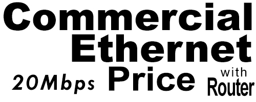 20Meg Commercial Ethernet Price with Router