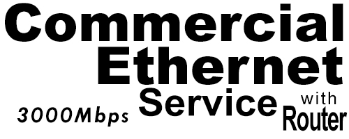 3000Meg Commercial Ethernet Service with Router
