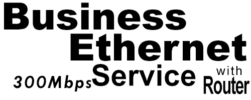 300Meg Business Ethernet Service with Router