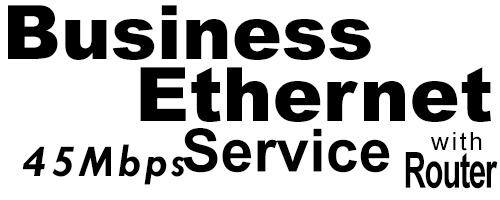 45Meg Business Ethernet Service with Router