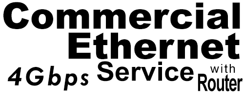 4Gig Commercial Ethernet Service with Router
