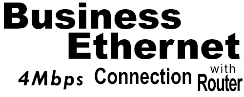 4Meg Business Ethernet Connection with Router