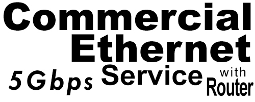 5Gig Commercial Ethernet Service with Router