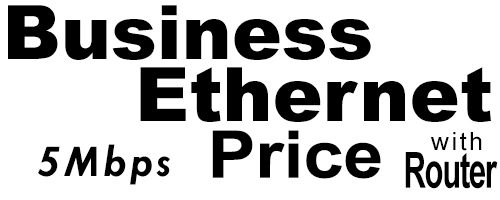5Meg Business Ethernet Price with Router