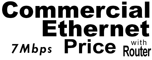 7Meg Commercial Ethernet Price with Router