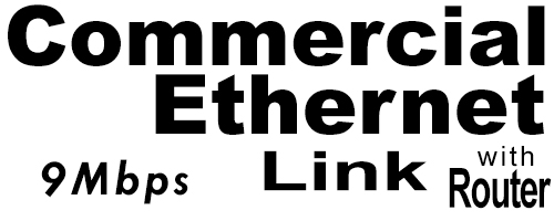 9Meg Commercial Ethernet Link with Router